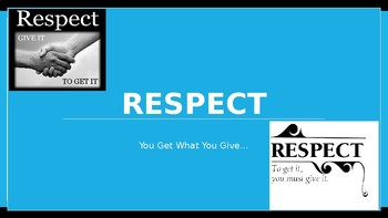 Respect Character Education Ed Lesson w 8 Video Links & 4 Activities PBIS