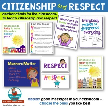 Respect & Citizenship   Writing Prompts & Anchor Charts