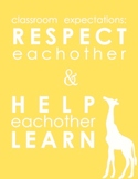 Respect Classroom Expectations Poster