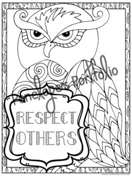 Respect Activity:  Respect Coloring Pages