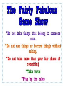 Respect, Fairness and Friendship Activities