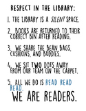 Respect In the Library Rules Poster