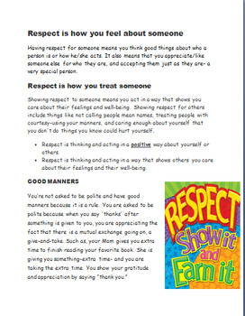 """Respect- Learning How to Show Respect to Others-Fun """"Respect Tree"""""""