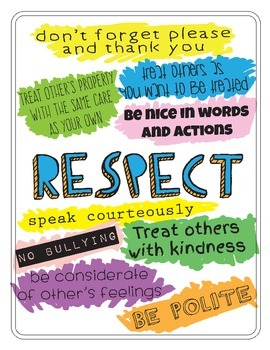 Respect Poster 1 By Teach A Little Something Teachers