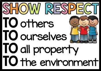 Respect Poster - Classroom Display