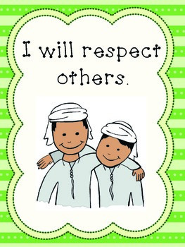 Respect Posters / Rules with a UAE theme