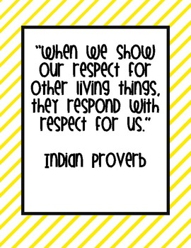 Character Education Respect Quotes Posters and Printable