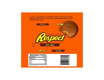 Respect Reese's Candybar Template