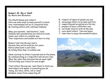 Respect & Responsibility Activity Pack