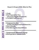 Respect & Responsibility Behavior Plan