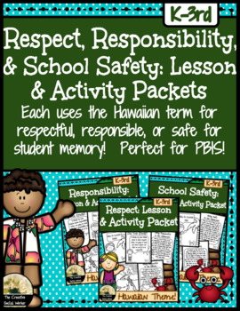 Respect, Responsibility, School Safety Mini Curriculum Bundle! {Hawaii Theme}
