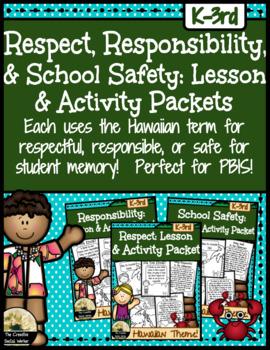 Respect, Responsibility, School Safety Mini Curriculum Bun