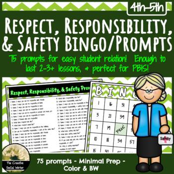Respect, Responsibility, School Safety Prompts/Bingo