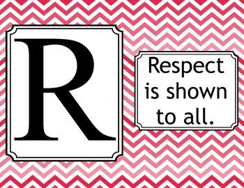Respect Rules-Chevron Coral