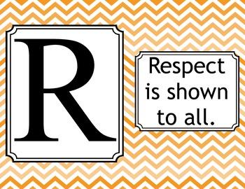Respect Rules-Chevron Orange
