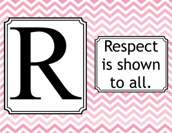 Respect Rules- Chevron Pink