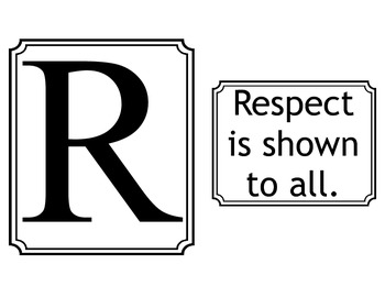 Respect Rules- White for Colored Paper