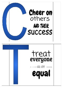 Respect Sign w/ Letters