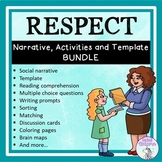 Respect - Social Narrative, Template and Activities BUNDLE