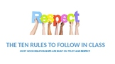 Respect - The 10 Rules to Follow