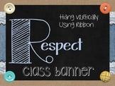 Burlap & lace Respect Vertical Acronym