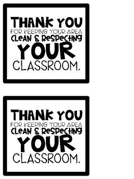 Respect Your Classroom Slips