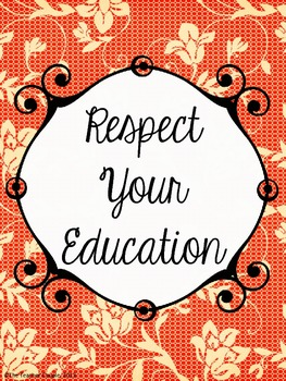 Respect Your Education Poster