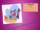 Respect and Responsibility Post Reading Unit Student Refle