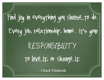 Respect and responsibility chalkboard quotes