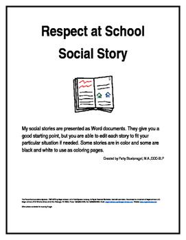 Respect at School Social Story
