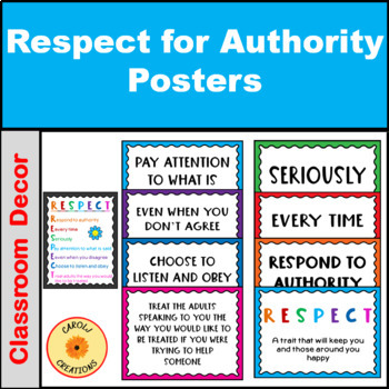 Respect for Authority Acrostic & Posters