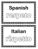 Respect in Other Languages - Display