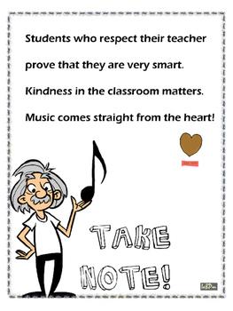Respect your teacher poster and prompts
