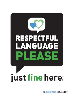 Respectful Language Please - Decal