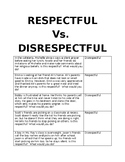 Respectful vs. Disrespectful Game