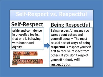 what is the difference between self esteem and self respect