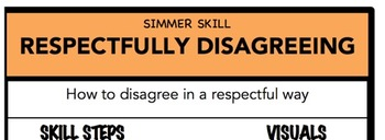 Respectfully Disagreeing Social Skill Steps Poster - The Empower Program K-2