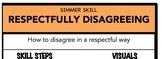 Respectfully Disagreeing Social Skill Steps Poster - The E