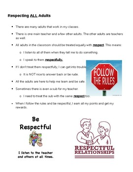 Respecting All Adults Social Story