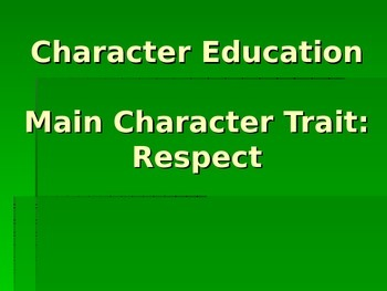 Respecting Others and Authority
