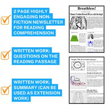 Science Literacy Respiration Sub Plan