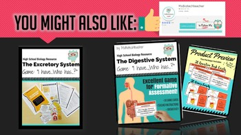 "Respiratory System Card Game - ""I have..., Who has...?"" (grades 9-12)"