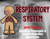 Respiratory System Differentiated Nonfiction Reading Passages