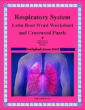 Respiratory System Latin Root Word Worksheet & Crossword Puzzle