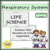 Respiratory System Vocabulary Cards