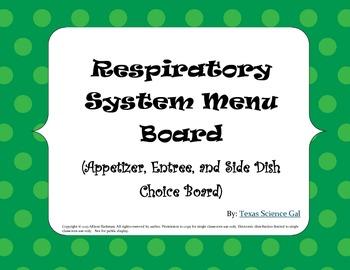 Respiratory System Menu Board