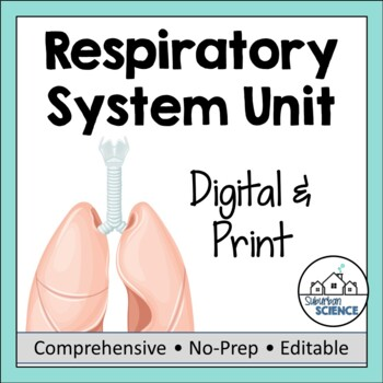 Respiratory System- PPT, Illustrated Notes, Diagrams, Lab Activity, & Quiz