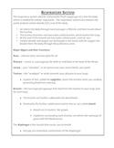Respiratory System Reference Sheet