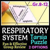 Respiratory System Tarsia Puzzle - Review Game (2 Difficulty Levels)