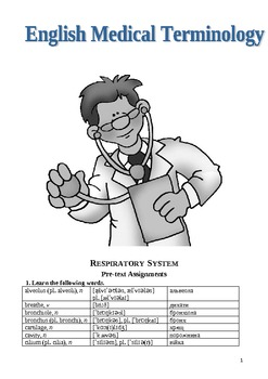 Respiratory System (Tasks in English)